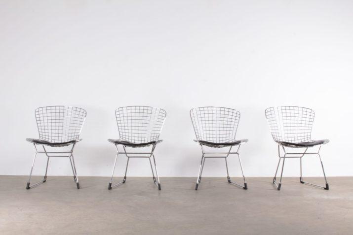 4 chaises style Bertoia