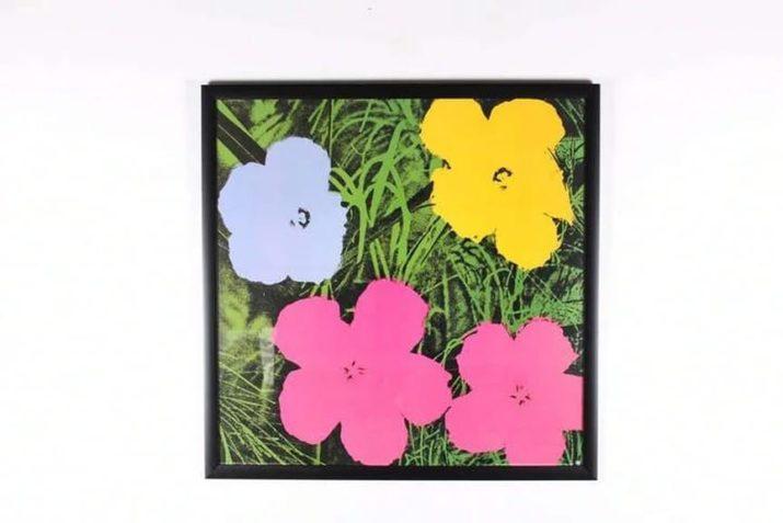 """Sérigraphie en couleur """"Flowers"""" - D'après Andy Warhol"""