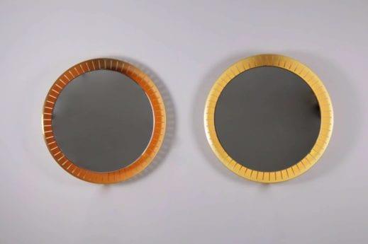 Paire de miroirs rétroéclairés - Stilnovo (Attribué)