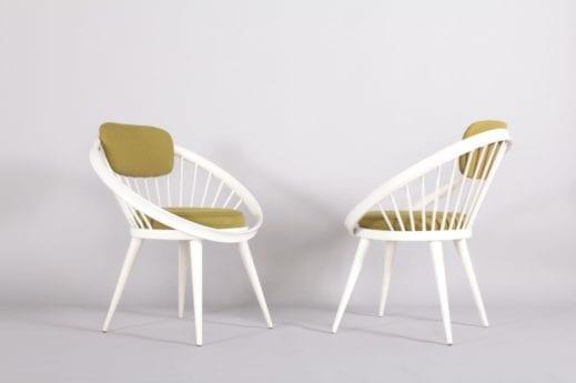 """YNGVE EKSTRÖM 2 fauteuils """"CIRCLE"""""""