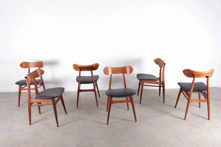 Louis van Teeffelen pour Webe - suite de 6 chaises en teck