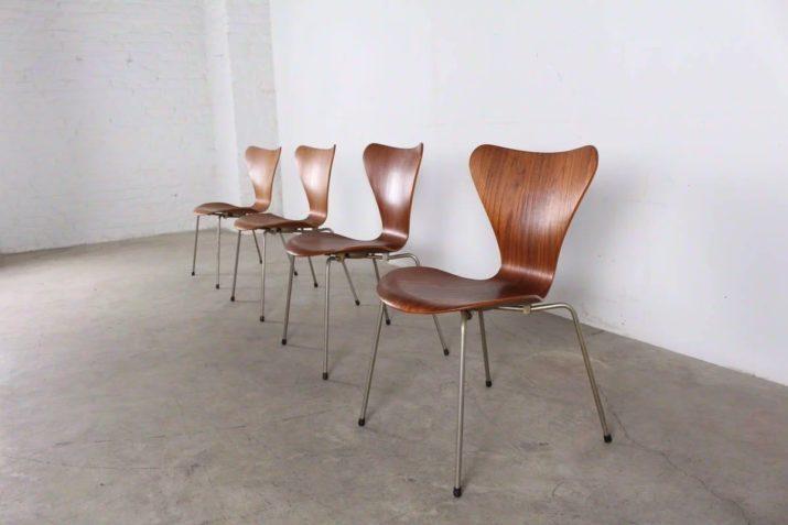 "4 chaises ""Fourmi/Ant"" - Arne Jacobsen pour Fritz Hansen"