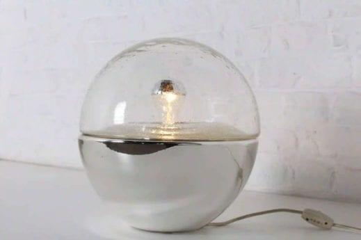 Lampe de table verre soufflé