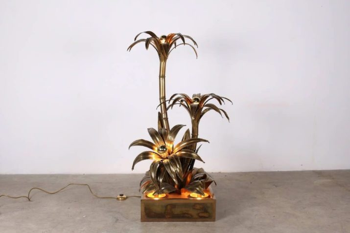 """Rare lampe """"palm tree"""" - Maison Jansen Paris"""