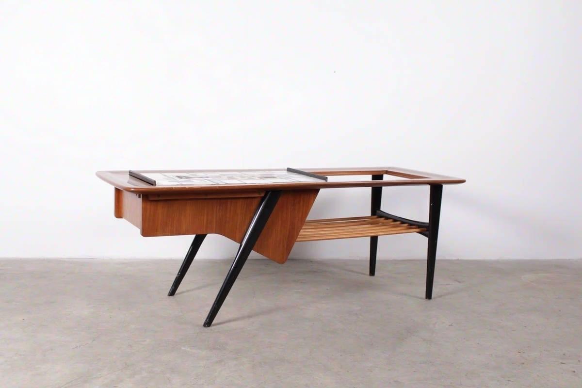Rare Table Basse Ouvrante Alfred Hendrickx Pour Belform Meubles