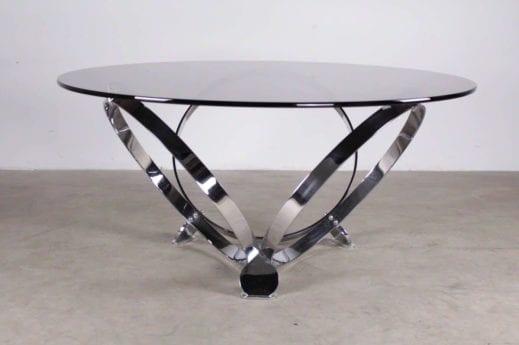 Table basse, acier chromé