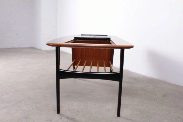 Rare table basse ouvrante - Alfred hendrickx pour Belform