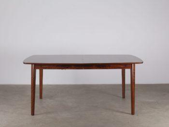 Table à allonges scandinave en palissandre (4 à 8 places)