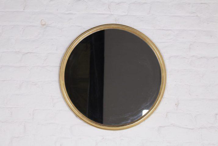 Miroir Rond Doré 1970