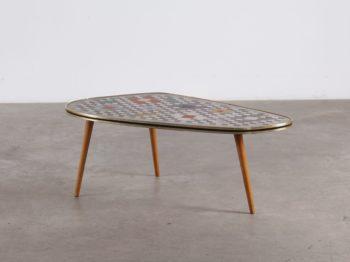 Table basse tripode mosaïque