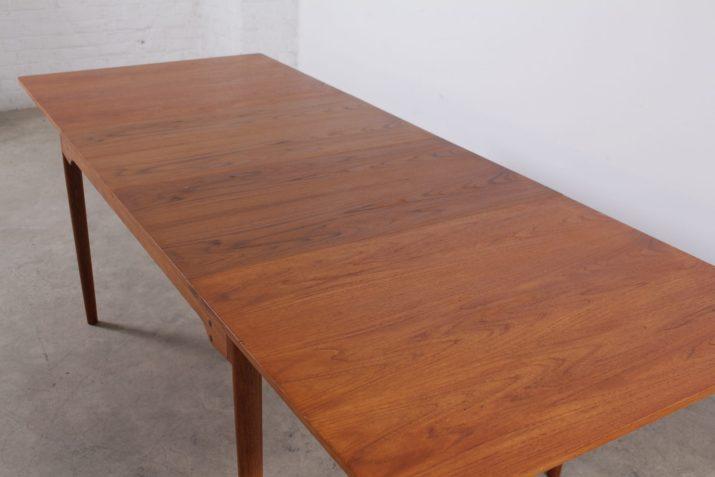 Rare table à 2 allonges Finn Juhl pour Bovirke Danemark (4 à 8 places)