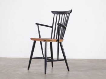 chaise à accoudoirs design vintage scandinave style fanett suède 1960 à liège
