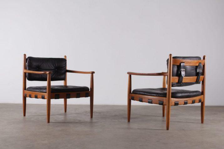 """Paire de fauteuils """"CADETT"""" par Eric MERTHEN"""