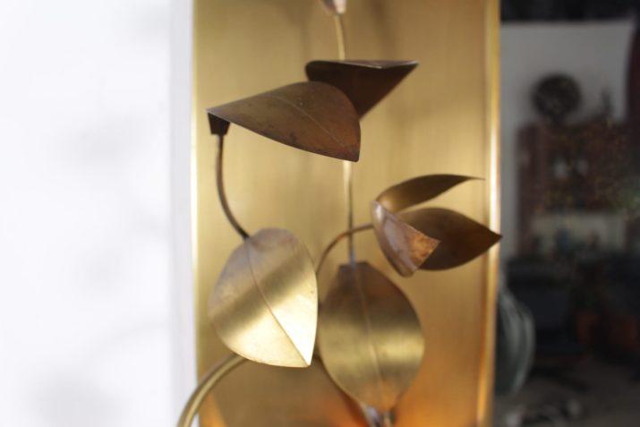 Miroir 1970 en laiton brossé style Maison Jansen