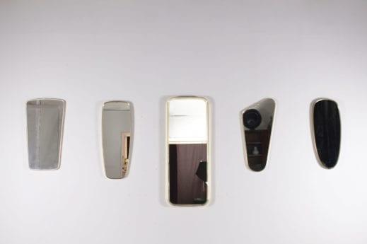 Miroirs années 50 / 60 contours laiton