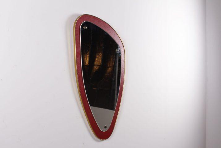 """Miroir vintage rouge """"forme libre"""""""
