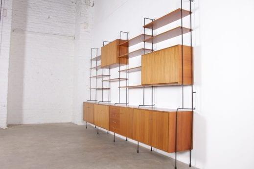 """Importante étagère murale modulable """"OMNIA"""" Ernest Hilker"""