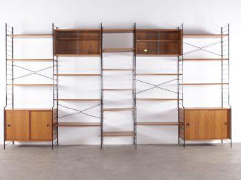 étagère murale modulable scandinave design vintage échelle acier noir à liège