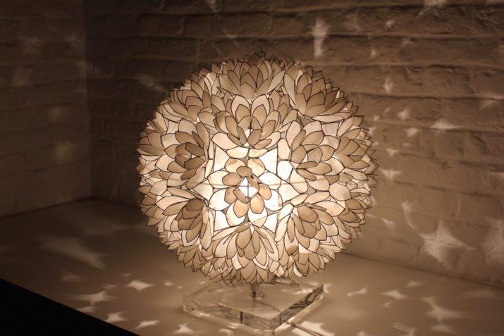 lampe boule de fleurs en barre design vintage Raush annees 70 à Liège addict