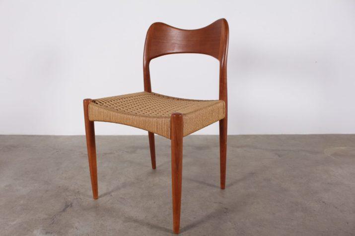"""6 chaises danoises en teck """"paper cord"""""""