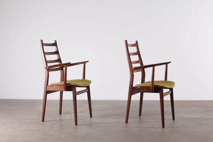 6 chaises en palissandre 1970