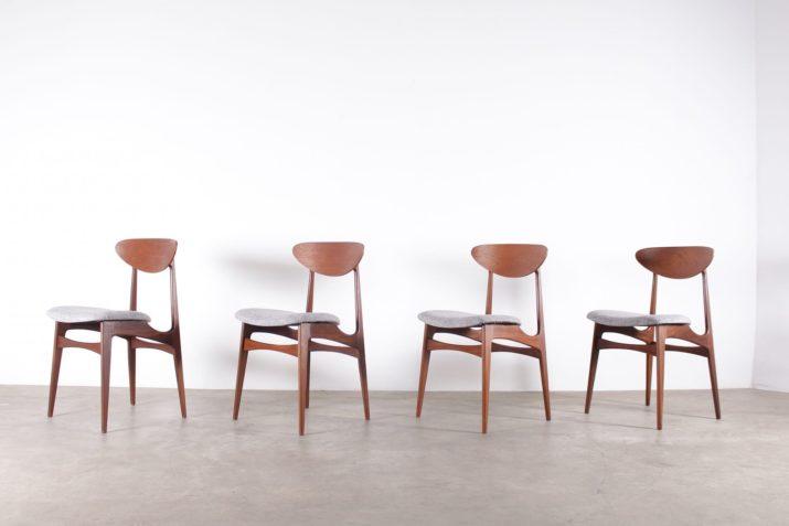 4 chaises danoise en teck