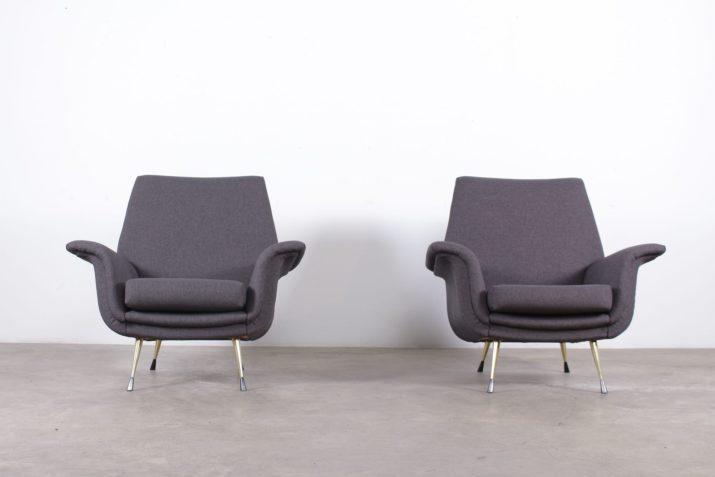 Paire de fauteuils italiens années 60