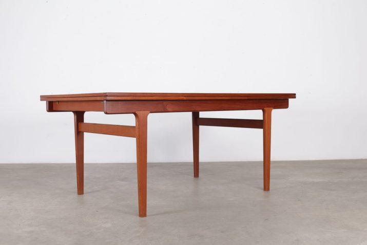 table à allonges en teck design vintage scandinave danemark 1960 à Liège addict