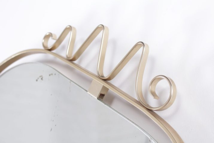 "Miroir laiton ""forme libre"""