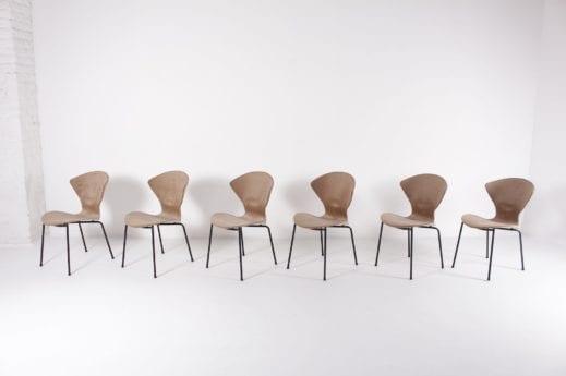 Geneviève Dangles pour Burov, 6 chaises. (OPTION)
