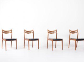 4 chaises italiennes vers 1960