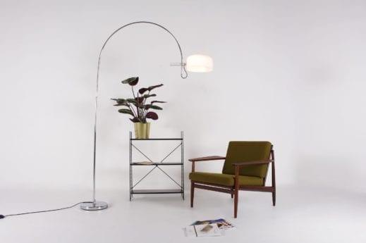 lampadaire arc design vintage style colombo à liège
