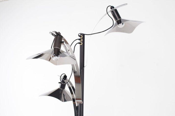 lampadaire à trois lampe design vintage italien Luci années 80 à Liège