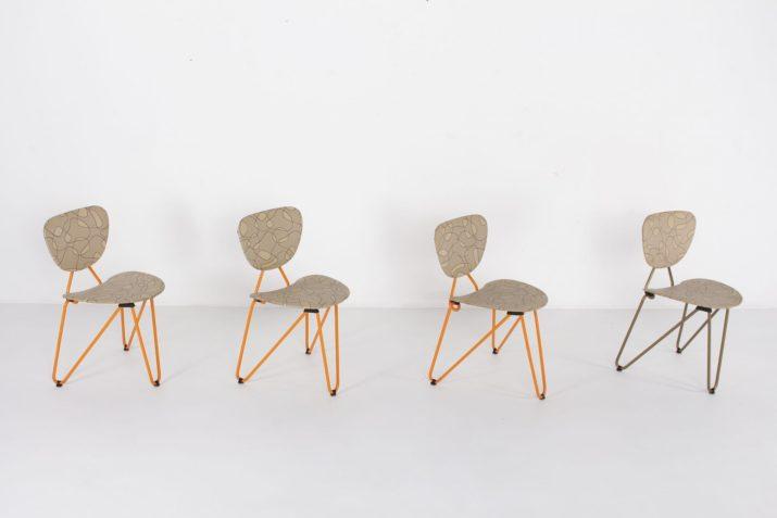 chaises vintage forme libre style tubax van der meeren