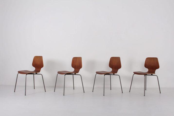 4 chaises Georges Frydman