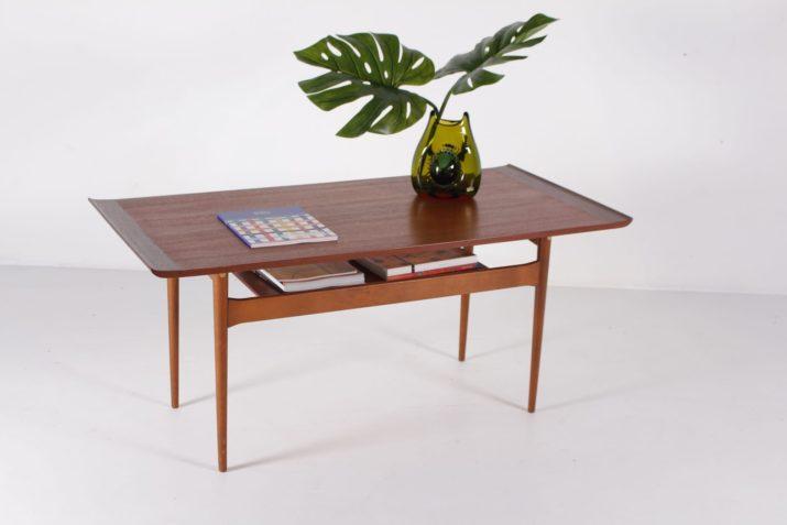 Table basse scandinave 2 plateaux