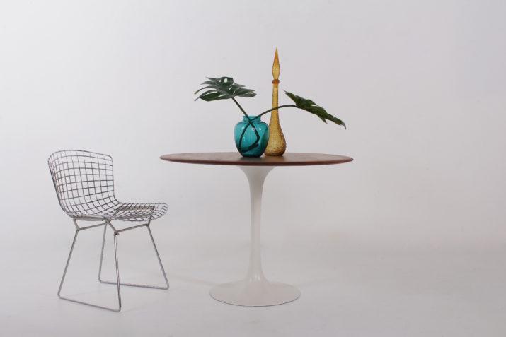 Table tulipe plateau teck