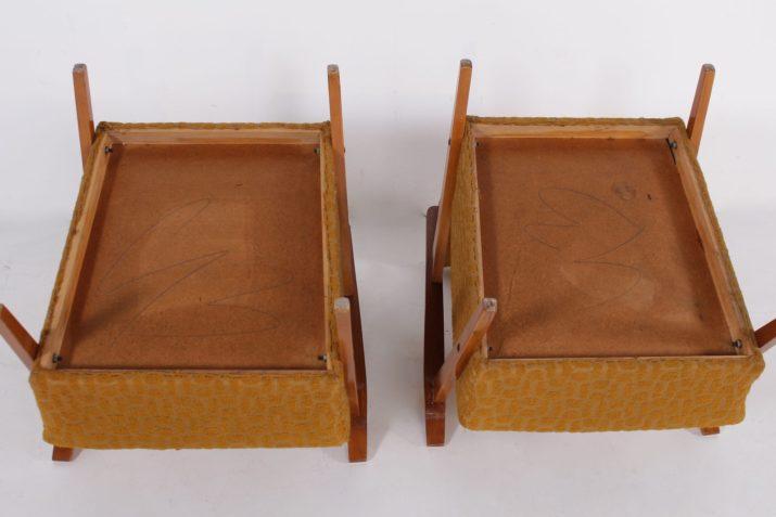 Paire de fauteuils à accoudoirs années 50
