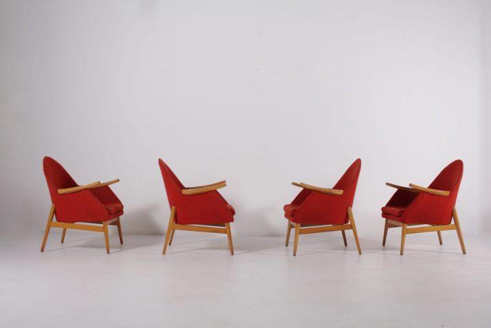 Paire de fauteuils clubs années 50