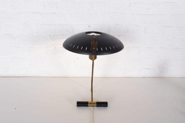 """Lampe Philips """"Z"""" noire Louis Kalff"""