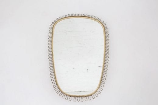 Miroir oval en laiton Josef Frank