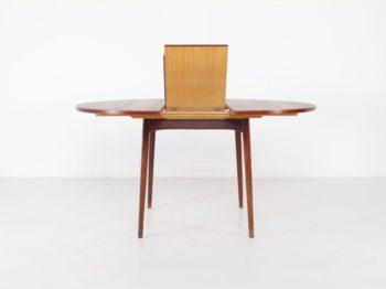 Table ronde à allonge centrale Louis van Teeffelen