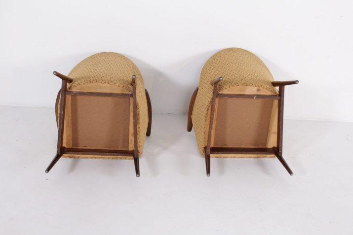 Paires de fauteuils clubs années 50