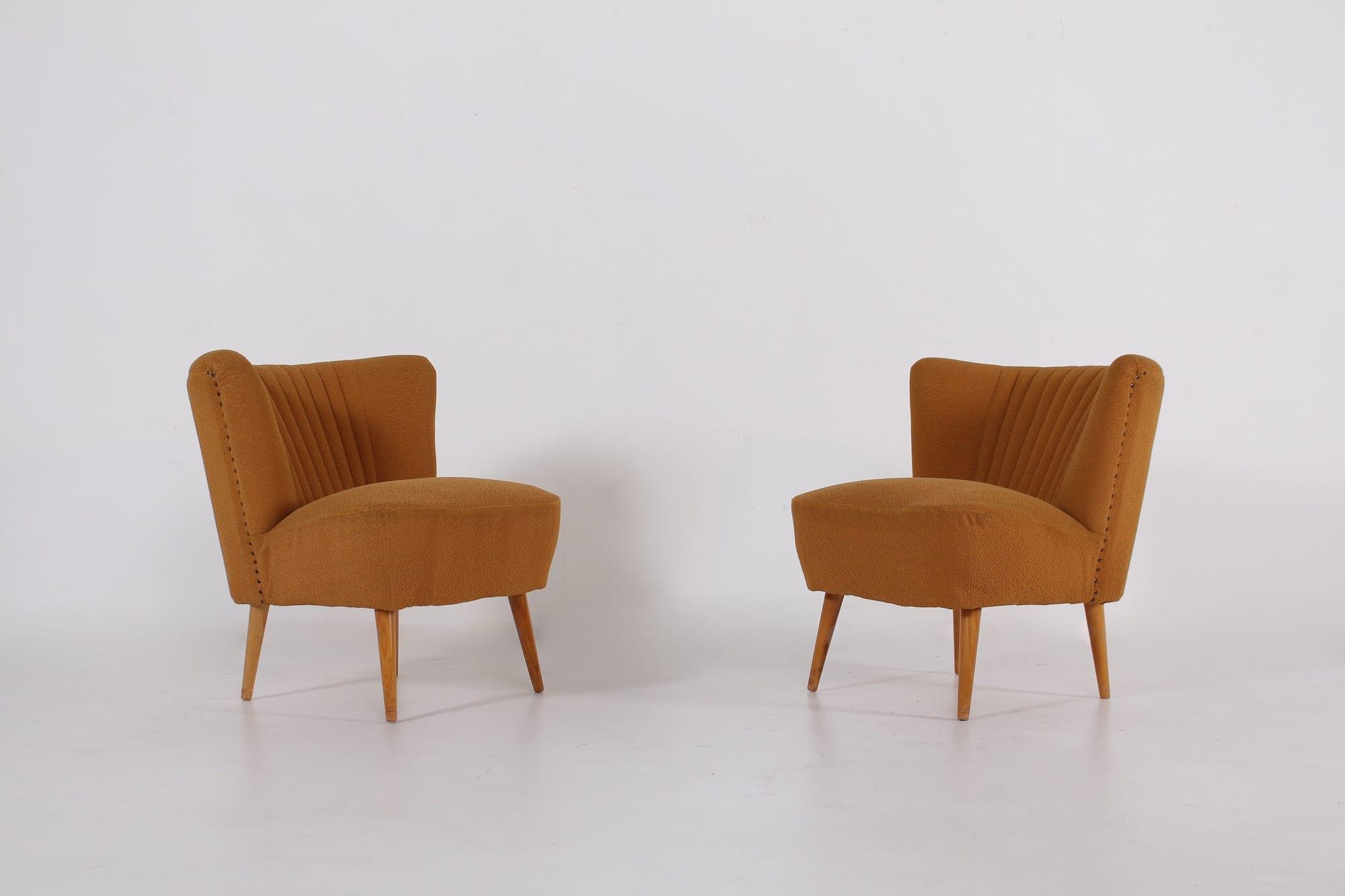 fauteuils cocktails annes 50 - Fauteuil Cocktail Vintage