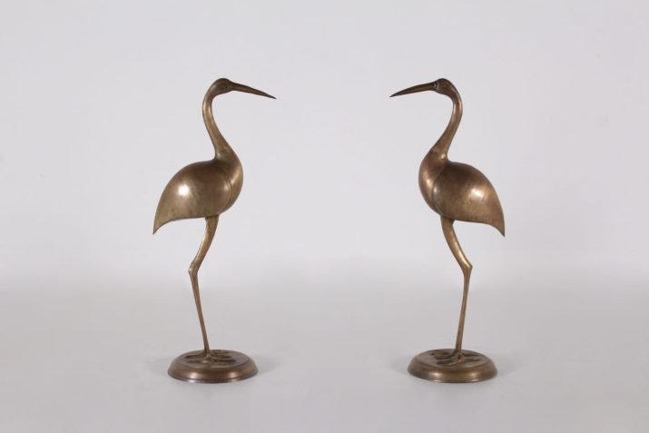 Paire d'ibis en laiton