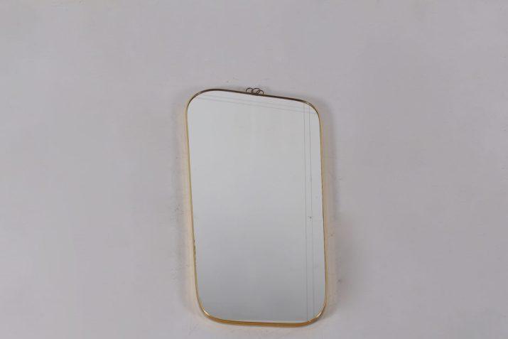 Miroir asymétrique 1960 en laiton