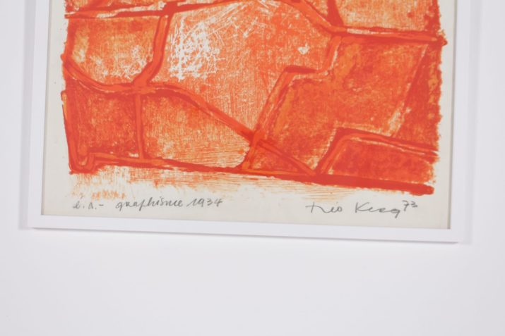 "Theo Kerg, lithographie ""Graphisme"", épreuve d'artiste."