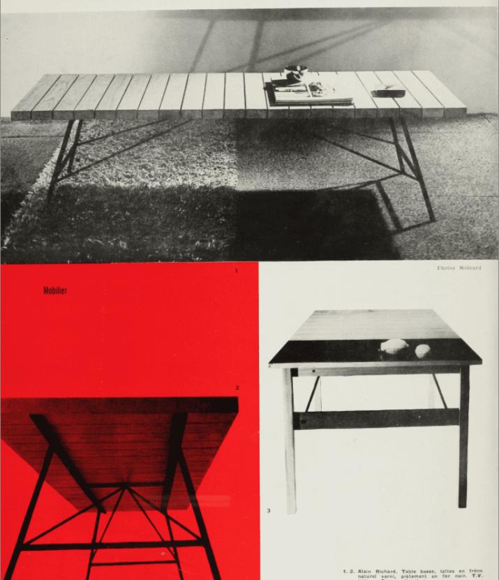 Banc moderniste Alain Richard