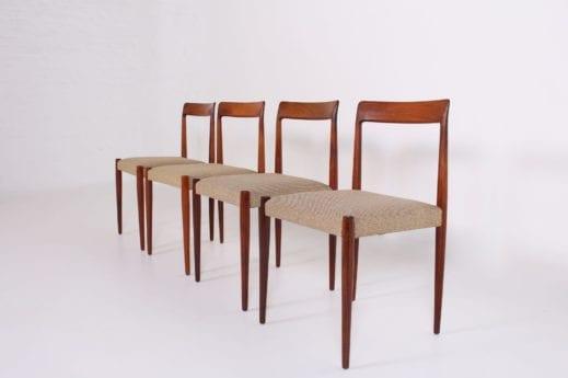 4 chaises scandinaves en palissandre