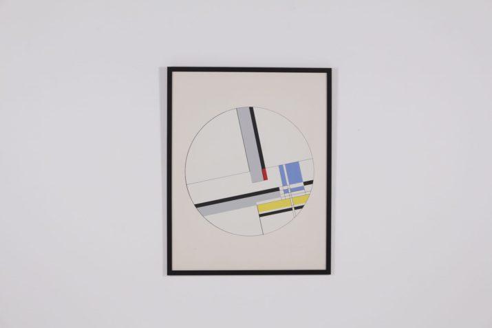 Jean Albert Gorin: Abstraction Géométrique. Epreuve d'artiste